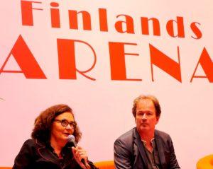 Ebba Witt-Brattström och Kjell Westö på Bokmässan.