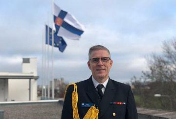 Kommodor Rami Peltonen är försvarsattaché vid Finlands ambassad i Stockholm.