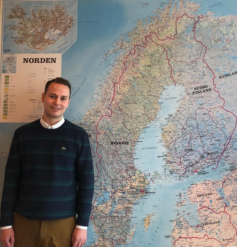 Högskolepraktikant Niklas Kurki