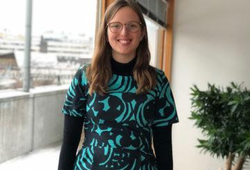 Högskolepraktikanten Elina Äijö jobbade på Finlands ambassad i Stockholm under hösten 2019.