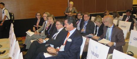 Suomen iloinen delegaatio Balilla. Kuva: Ville Cantell