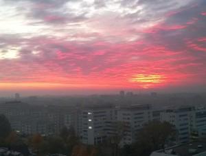 Auringonnousu Haagissa. Kuva: Tia Puumalainen
