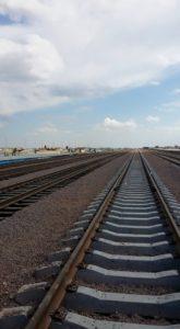 Kiinan ja Kazakstanin rajalle Khorgosiin rakennetaan raideyhteyksiä kahdella eri raideleveydellä. Kuva: Annika Koivula-Olstad