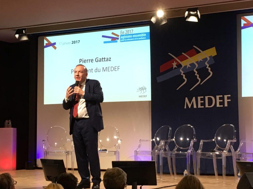 Kuvassa Pierre Gattaz, Ranskan työnantajajärjestö Medefin puheenjohtaja, kuva: Nicola Lindertz.