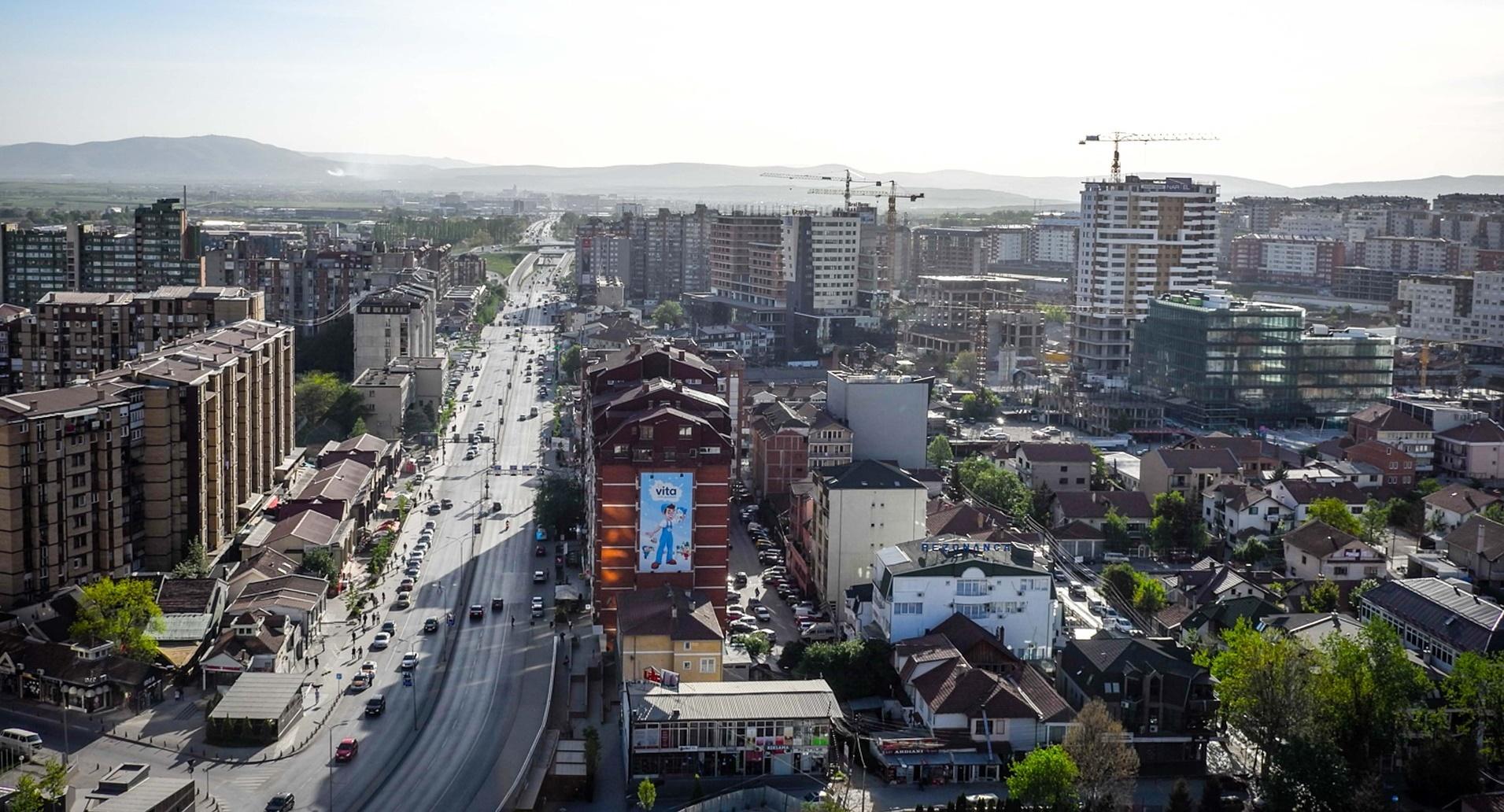 Kaupunkinäkymä Kosovosta