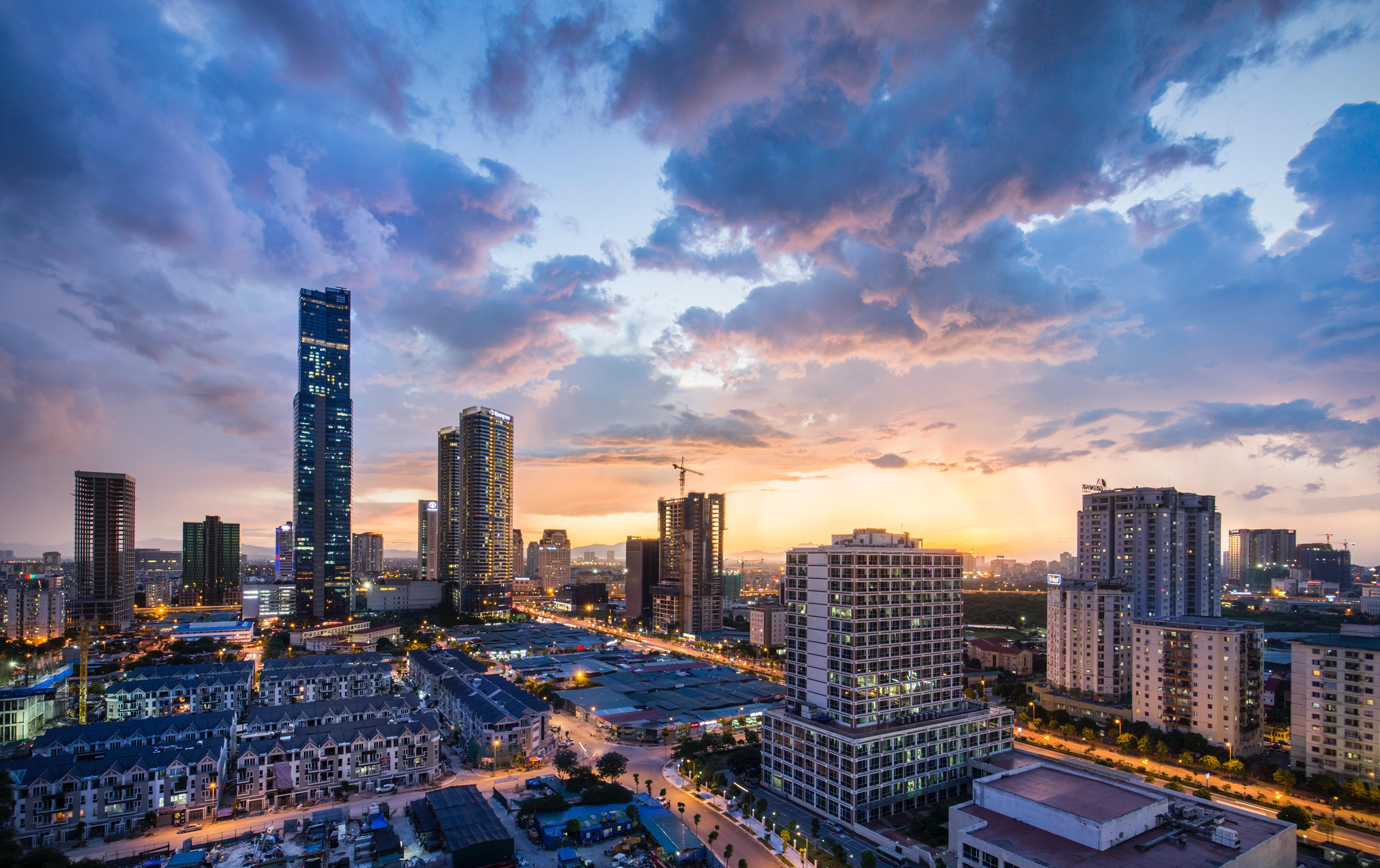 Kaupunkikuvaa Vietnamista. Kuva: Unsplash.