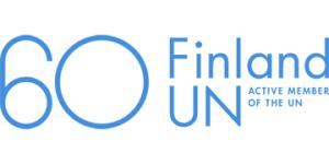 Suomi YK:ssa 60 vuotta -juhlavuoden tunnus