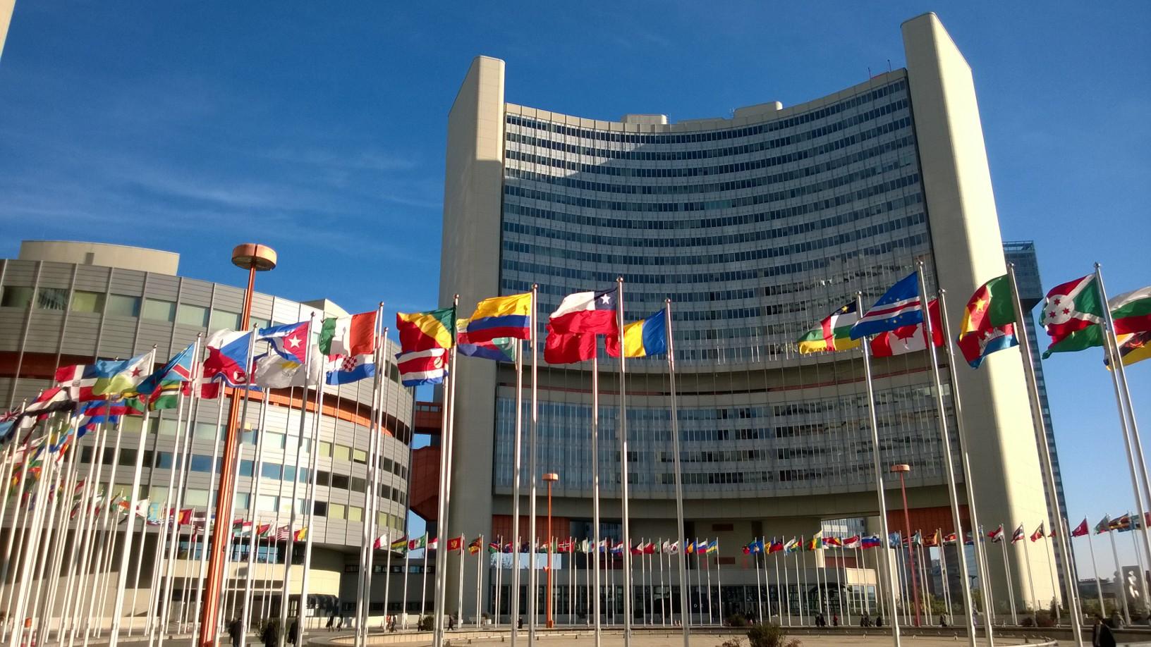 Wienin kansainvälinen keskus eli YK:n päämaja Wienissä. Kuva: Kirsti Pohjankukka